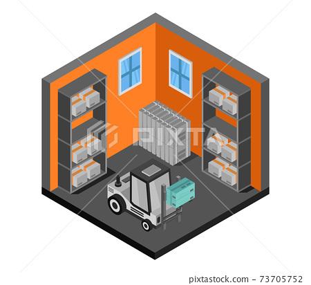 isometric warehouse 73705752