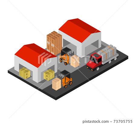 isometric warehouse 73705755