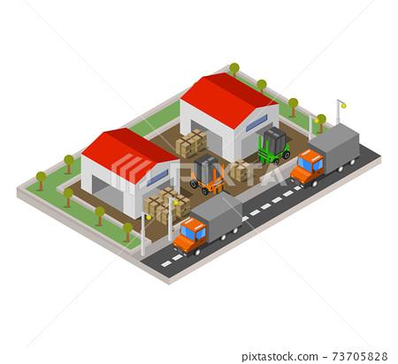 isometric warehouse 73705828