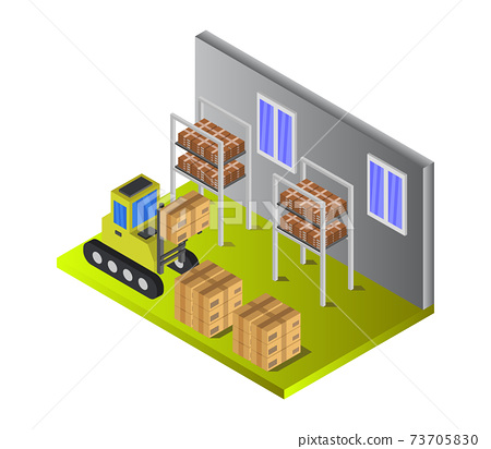 isometric warehouse 73705830