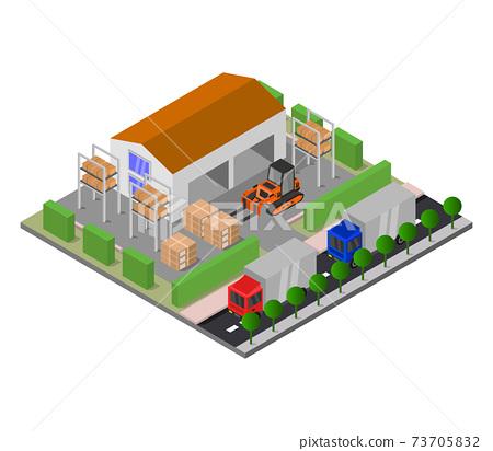 isometric warehouse 73705832