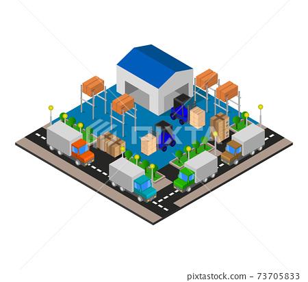 isometric warehouse 73705833