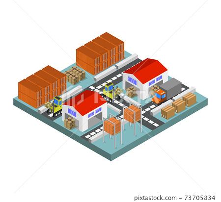 isometric warehouse 73705834