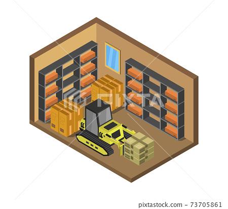 isometric warehouse 73705861