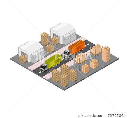 isometric warehouse 73705864