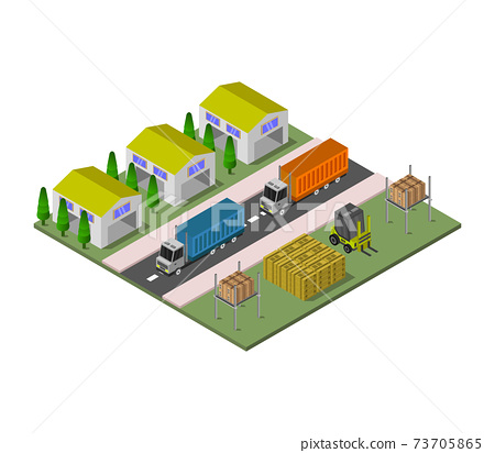 isometric warehouse 73705865