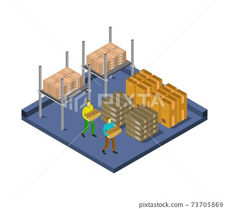 isometric warehouse 73705869