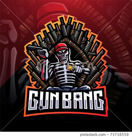 Gun bang skeleton king esport mascot logo 73716558