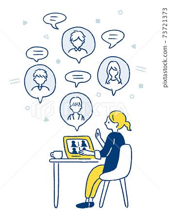 Illustration of remote work 73721373