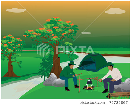 camping man vector design 73723867