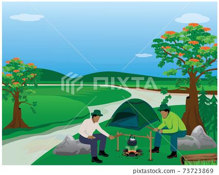 camping man vector design 73723869