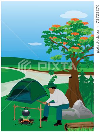 camping man vector design 73723870