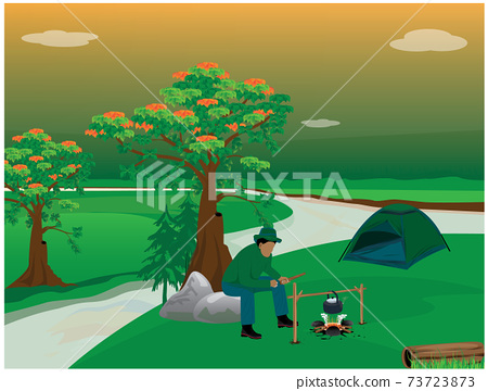 camping man vector design 73723873