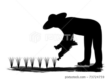 isolated farmer cartoon shape vector design 73724759