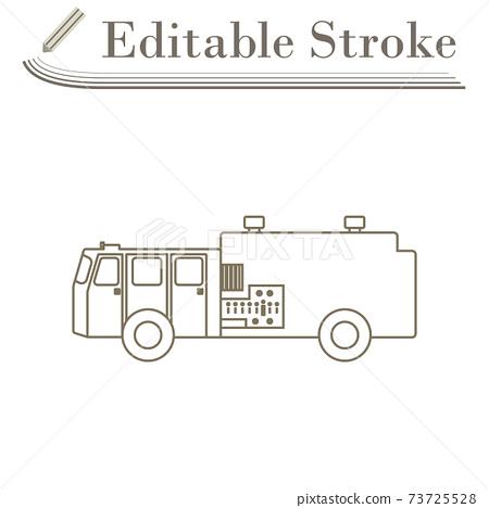 Fire Service Truck Icon 73725528