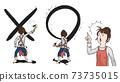 一名家庭主婦繪製丸和X的插圖集 73735015
