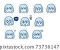 여성 캐릭터의 얼굴 아이콘 73736147