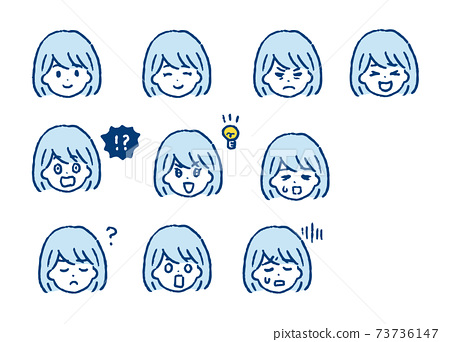 Female character face icon 73736147