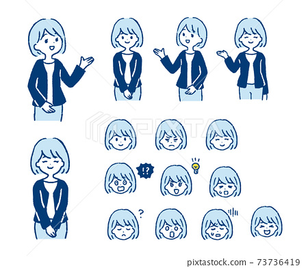 Illustration of a sales woman 73736419