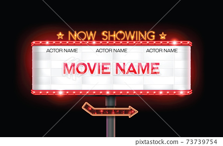 light sign billboard cinema resource 73739754