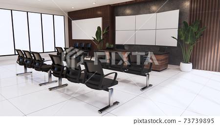 waiting room interior on office design.3D rendering 73739895
