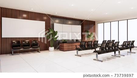 waiting room interior on office design.3D rendering 73739897