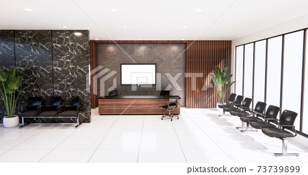 waiting room interior on office design.3D rendering 73739899