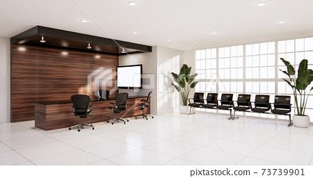 waiting room interior on office design.3D rendering 73739901