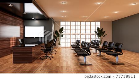 waiting room interior on office design.3D rendering 73739911