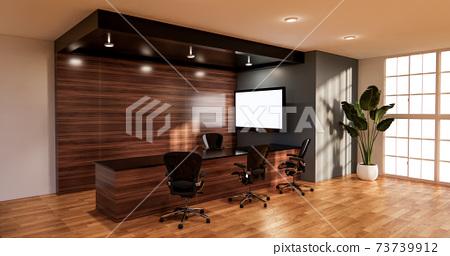 waiting room interior on office design.3D rendering 73739912