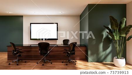 waiting room interior on office design.3D rendering 73739913