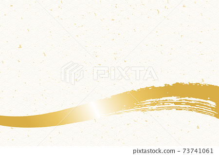 Illustration material Background Japanese style Japanese pattern Simple brush Calligraphy Qinghai wave pattern 73741061