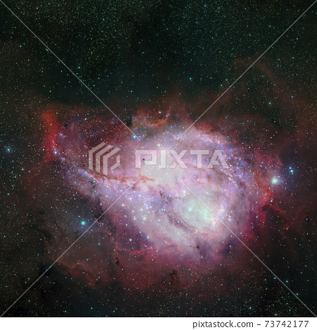 Abstract space background. Elements of this image furnished by NASA 73742177