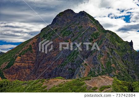 八岳主峰,赤道岳,從公道岳和大千里町附近可以看到 73742804