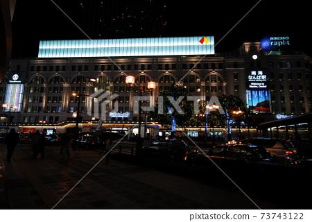 오사카.간사이공항.거리.밤풍경 73743122