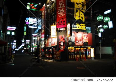 오사카.밤거리.가게.불빛 73743272
