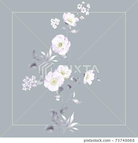 色彩豐富的花卉素材和設計元素 73748068