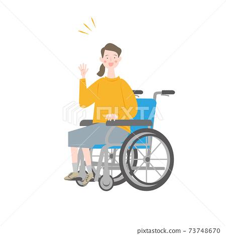 騎輪椅的女人 73748670