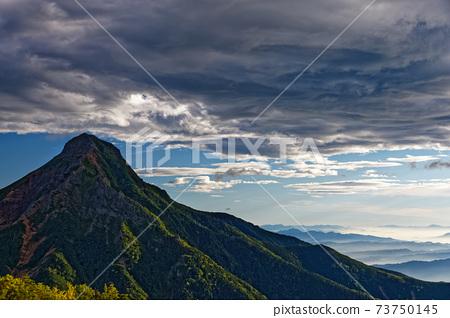 八嶽山脈,赤山和從三ug原看到的晨霧 73750145