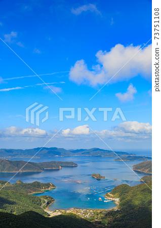 從Am美大島看到的角島島地區 73751108