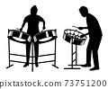 男人和女人在鋼盤玩的剪影 73751200