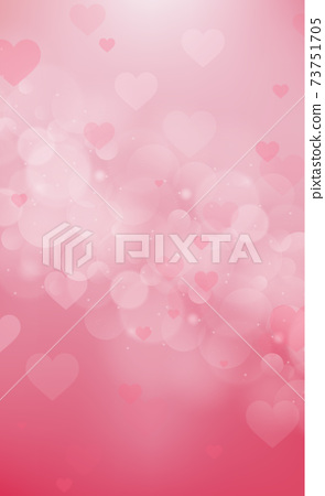 Red and pink bokeh background for Valentine's Day - Vector 73751705