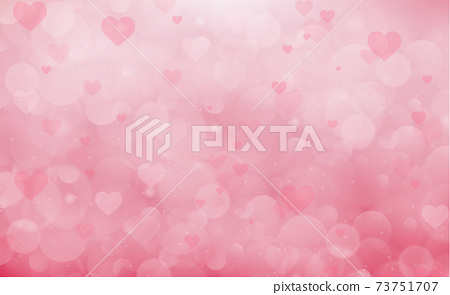 Red and pink bokeh background for Valentine's Day - Vector 73751707