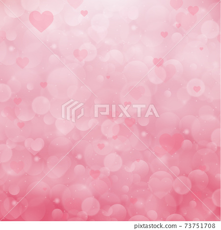 Red and pink bokeh background for Valentine's Day - Vector 73751708