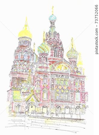 世界遺產城市景觀,俄羅斯,鮮血教堂 73752066