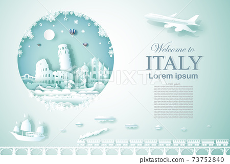 Travel Italy ancient and castle architecture monument. 73752840