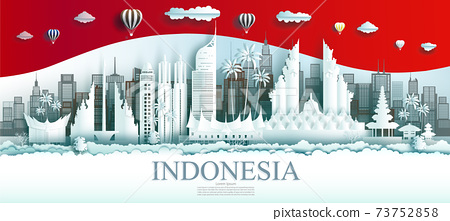 Travel Indonesia top world famous city ancient and palace architecture. 73752858