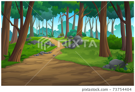 Illustration of an outdoor in the jungle and natural. 73754404