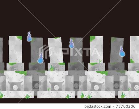 午夜墓地的休閒觸摸背景插圖 73760206