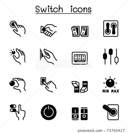 Switch icons set vector illustration graphic design 73760427